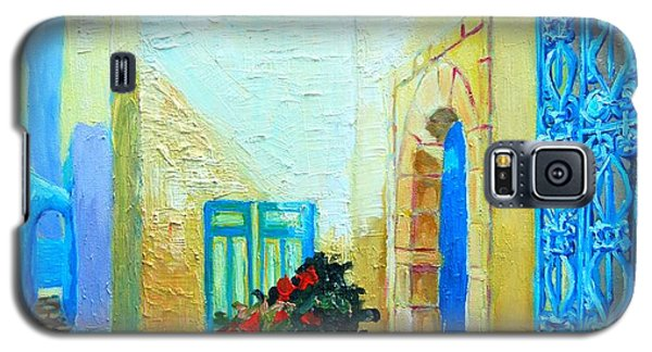 Galaxy S5 Case featuring the painting Narrow Street In Hammamet by Ana Maria Edulescu