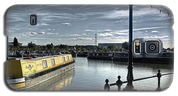 Narrowboat Idly Dan At Barton Marina On Galaxy S5 Case