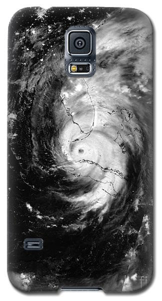 Nasa Hurricane Irma Between Cuba And Florida Satellite Image Galaxy S5 Case