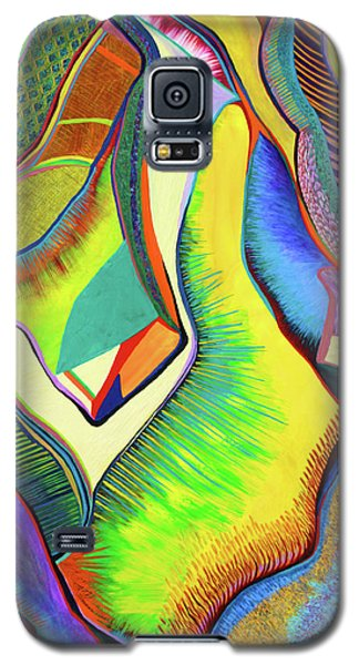 Galaxy S5 Case featuring the painting Nascent Bud by Polly Castor