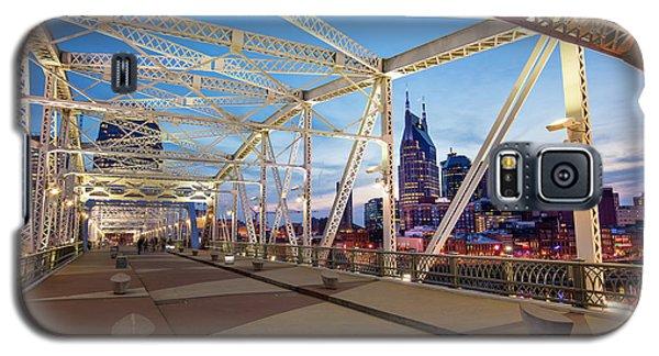 Galaxy S5 Case featuring the photograph Nashville Bridge II by Brian Jannsen