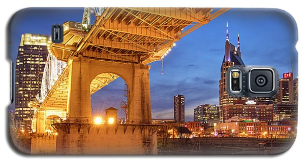 Galaxy S5 Case featuring the photograph Nashville Bridge IIi by Brian Jannsen