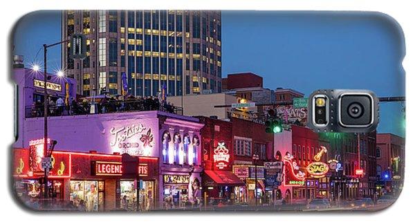 Galaxy S5 Case featuring the photograph Nashville - Broadway Street by Brian Jannsen