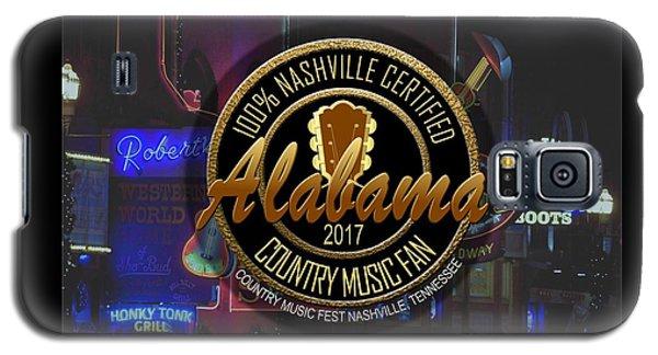 Nashville Certified Alabama Country Music Fan Galaxy S5 Case