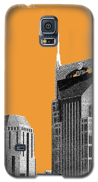 Nashville Skyline At And T Batman Building - Orange Galaxy S5 Case by DB Artist