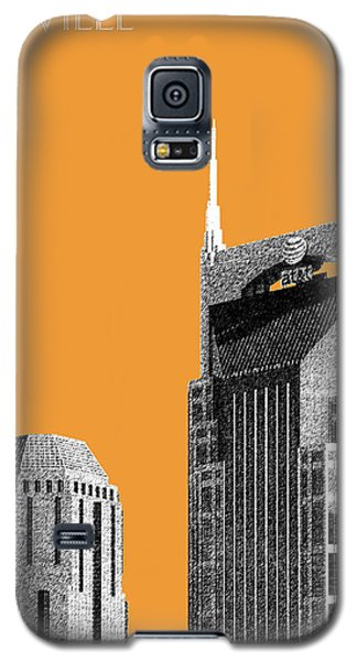 Nashville Skyline At And T Batman Building - Orange Galaxy S5 Case