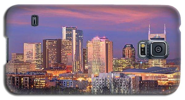 Nashville Skyline At Dusk 2018 Panorama Color Galaxy S5 Case