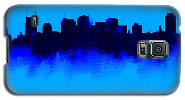 Ben Affleck Galaxy S5 Case - Nashville  Skyline Blue  by Enki Art