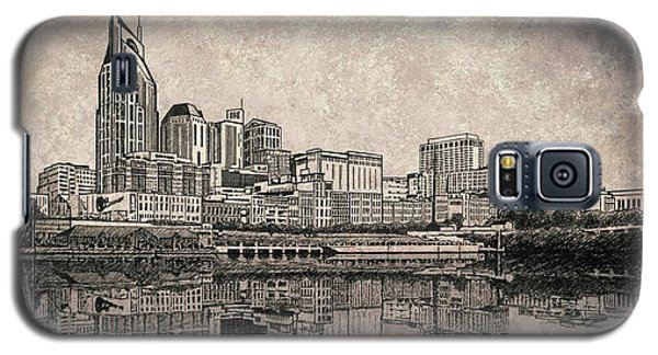 Galaxy S5 Case featuring the painting Nashville Skyline Mixed Media Painting  by Janet King