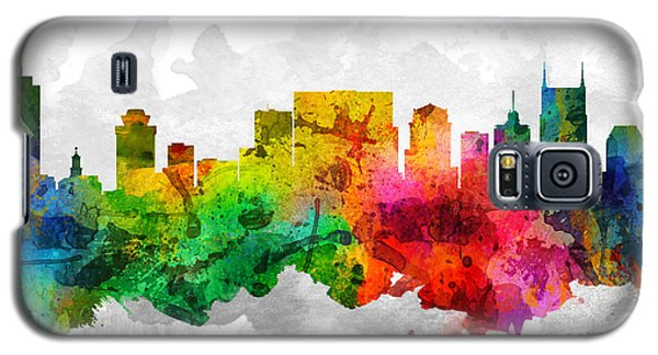 Nashville Tennessee Cityscape 12 Galaxy S5 Case by Aged Pixel