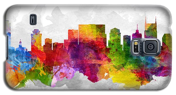 Nashville Tennessee Cityscape 13 Galaxy S5 Case by Aged Pixel