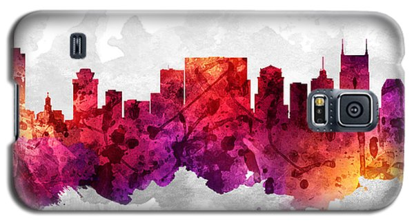 Nashville Tennessee Cityscape 14 Galaxy S5 Case by Aged Pixel