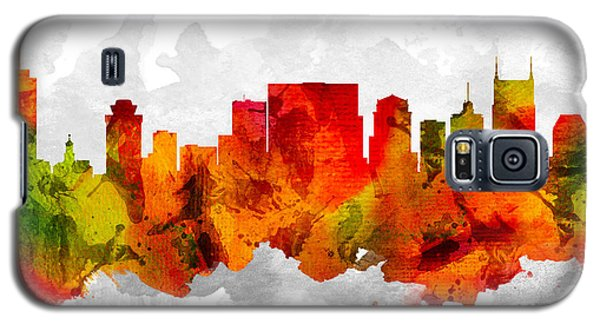 Nashville Tennessee Cityscape 15 Galaxy S5 Case by Aged Pixel