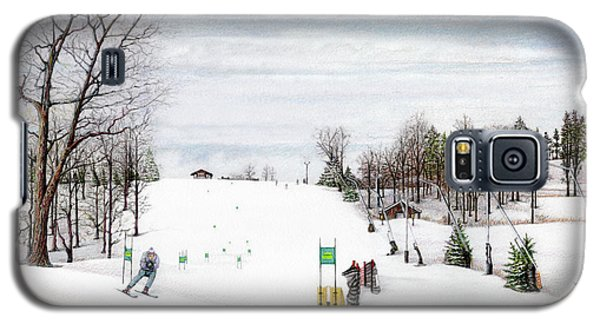 Galaxy S5 Case featuring the painting Nastar At Seven Springs Mountain Resort by Albert Puskaric