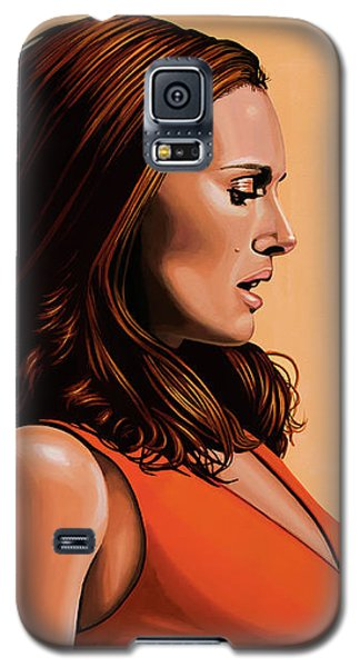 Natalie Portman 2 Galaxy S5 Case by Paul Meijering