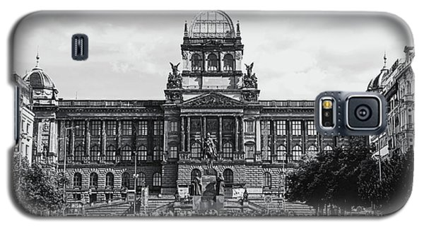 Galaxy S5 Case featuring the photograph National Museum At Wenceslas Square. Prague by Jenny Rainbow