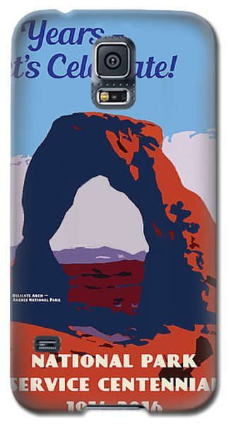 Galaxy S5 Case featuring the digital art 100 Years, National Park Service Centennial by Chuck Mountain