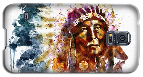 Native American Chief Galaxy S5 Case by Marian Voicu