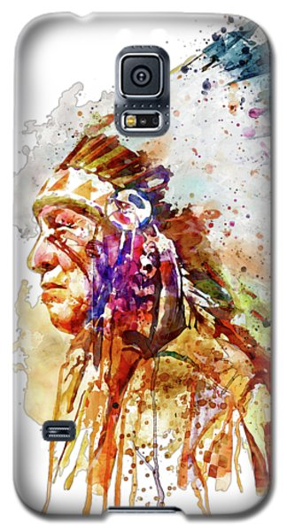 Native American Chief Side Face Galaxy S5 Case