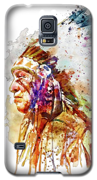 Native American Chief Side Face Galaxy S5 Case by Marian Voicu