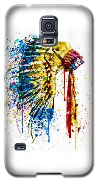 Native American Feather Headdress   Galaxy S5 Case by Marian Voicu
