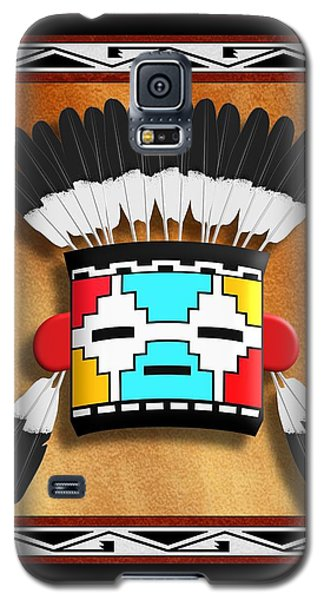 Galaxy S5 Case featuring the digital art Native American Indian Kachina Mask by John Wills