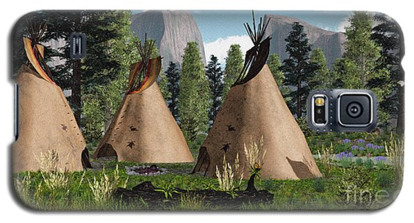 Native American Mountain Tepees Galaxy S5 Case