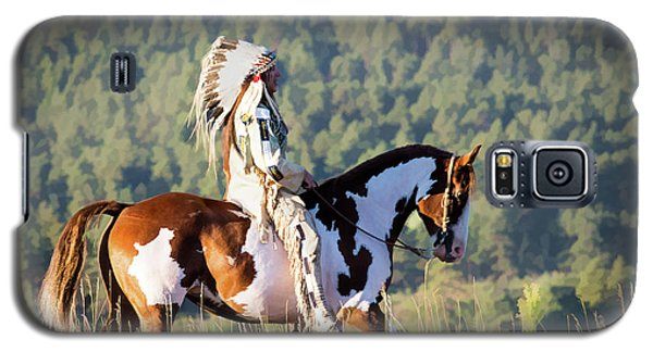 Native American On His Paint Horse Galaxy S5 Case