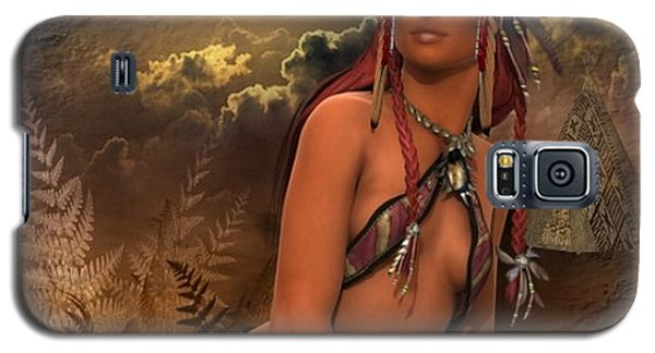 Native American Woman... Abedabun Galaxy S5 Case