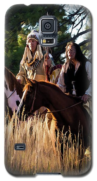 Native Americans On Horses In The Morning Light Galaxy S5 Case