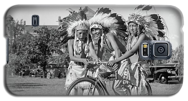 Native Americans With Bicycle Galaxy S5 Case
