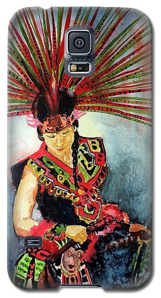 Galaxy S5 Case featuring the painting Native Dancer by Tom Riggs