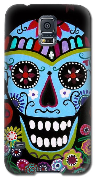 Native Dia De Los Muertos Skull Galaxy S5 Case by Pristine Cartera Turkus
