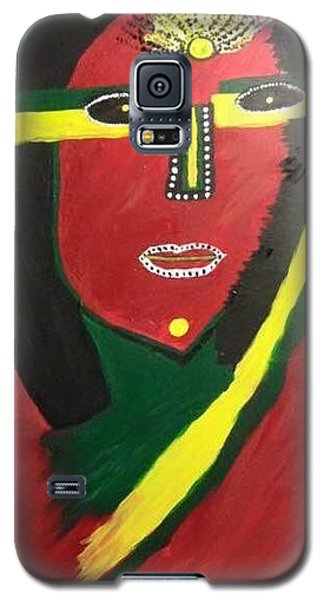 Galaxy S5 Case featuring the painting native Queen  by Samimah Houston