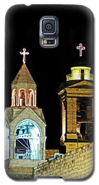 Galaxy S5 Case featuring the photograph Nativity Church Lights by Munir Alawi