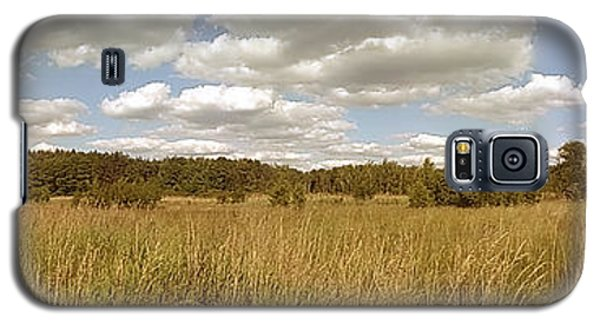 Sunny Galaxy S5 Case - Natural Meadow Landscape Panorama. by Arletta Cwalina