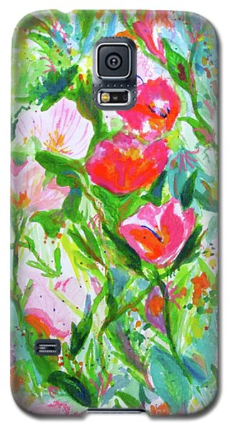 Galaxy S5 Case featuring the painting Nature Dance by Beth Saffer
