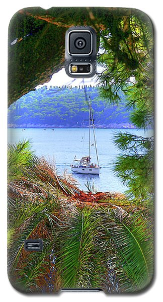 Nature Framed Boat Galaxy S5 Case
