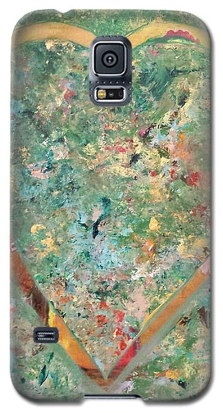 Galaxy S5 Case featuring the painting Nature Lover by Diana Bursztein