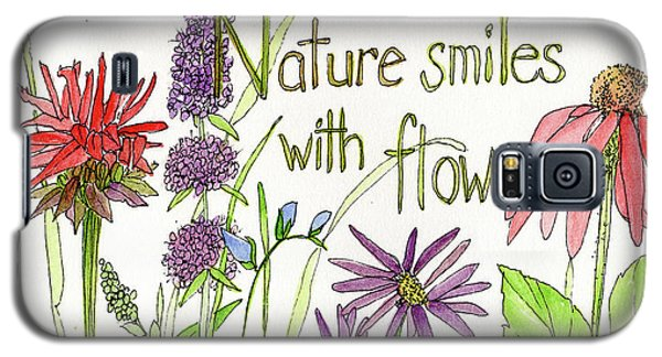 Nature Smile With Flowers Galaxy S5 Case