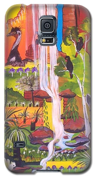 Galaxy S5 Case featuring the painting Nature Windows by Lyn Olsen