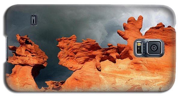 Galaxy S5 Case featuring the photograph Nature's Artistry Nevada by Bob Christopher