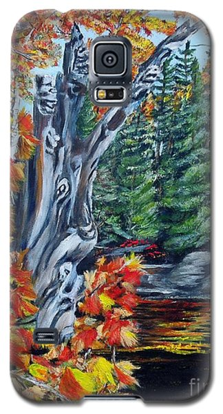 Galaxy S5 Case featuring the painting Natures Faces by Marilyn  McNish