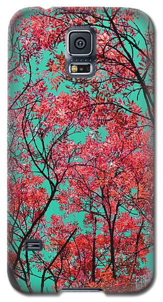 Galaxy S5 Case featuring the photograph Natures Magic - Fire Red by Rebecca Harman