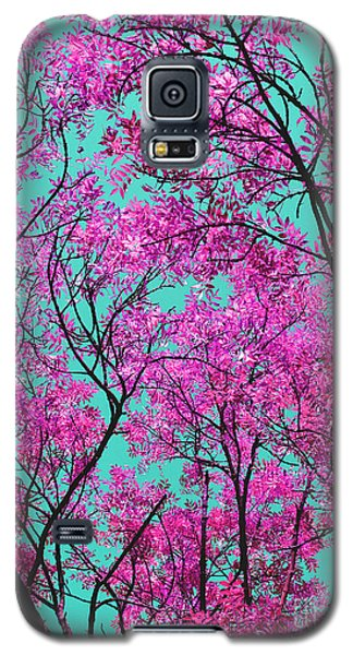Galaxy S5 Case featuring the photograph Natures Magic - Pink And Blue by Rebecca Harman