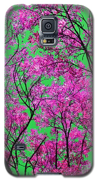 Galaxy S5 Case featuring the photograph Natures Magic - Pink And Green by Rebecca Harman