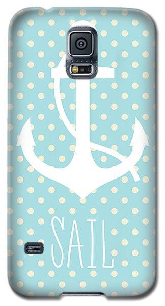 Nautical Anchor Art Print Galaxy S5 Case by Taylan Apukovska
