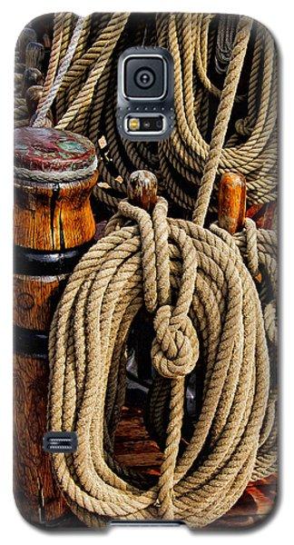Nautical Knots 17 Oil Galaxy S5 Case