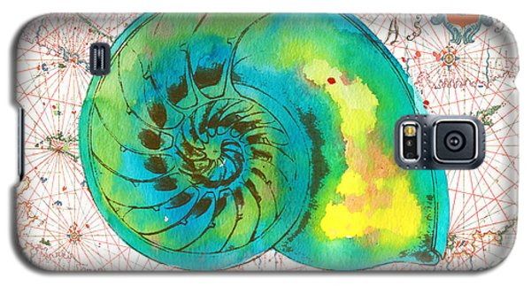 Galaxy S5 Case featuring the painting Nautical Treasures-n by Jean Plout