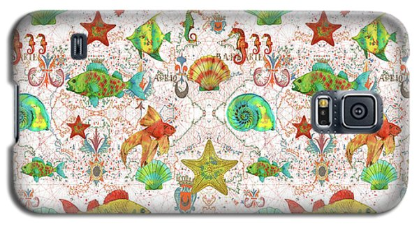 Galaxy S5 Case featuring the painting Nautical Treasures-r by Jean Plout